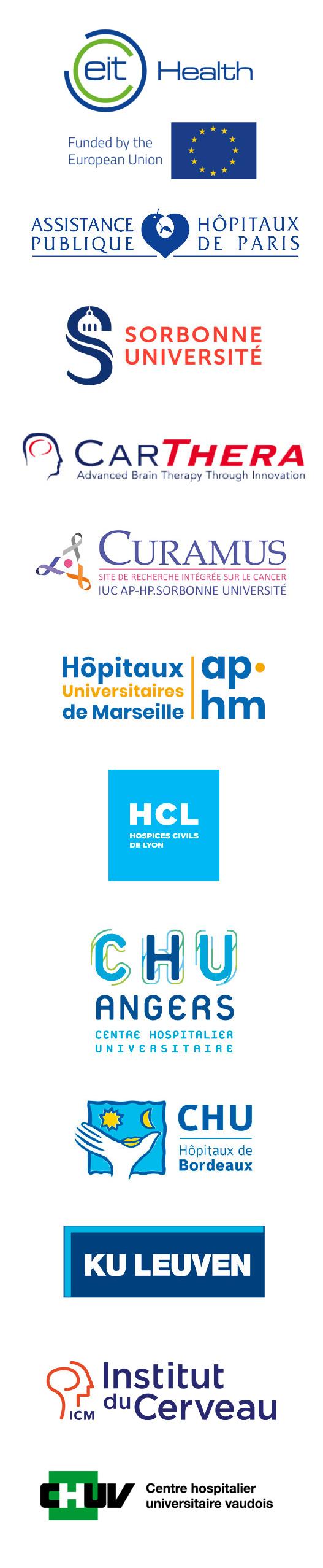 SonoFirst Partners - APHP- Sorbonne U - CarThera - Curamus - Aphm -HCL -CHu Angers - Chu Bordeaux - ICM -Ku Leuven - CHUV